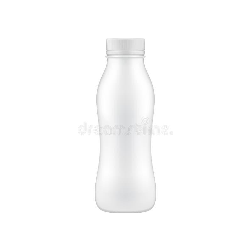 干净的饮用的瓶嘲笑  向量例证