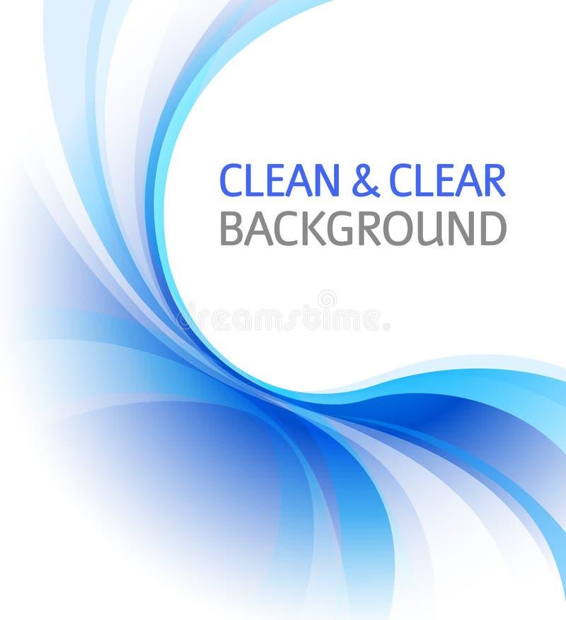 干净背景蓝色的商业 向量例证