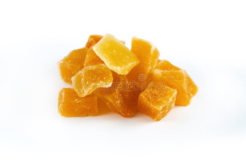 干和糖煮的芒果 免版税图库摄影