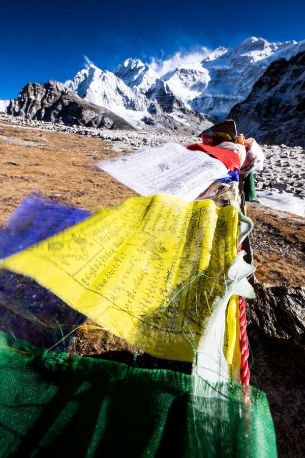 干城章嘉峰山,尼泊尔 免版税库存照片