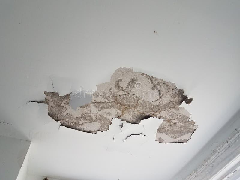 干式墙和天花板损伤 图库摄影