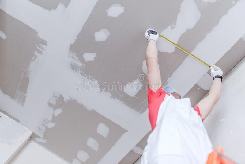 干式墙测量 图库摄影