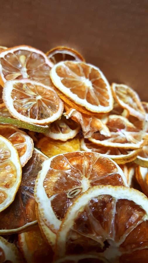 干果子橙色石灰柠檬 库存图片