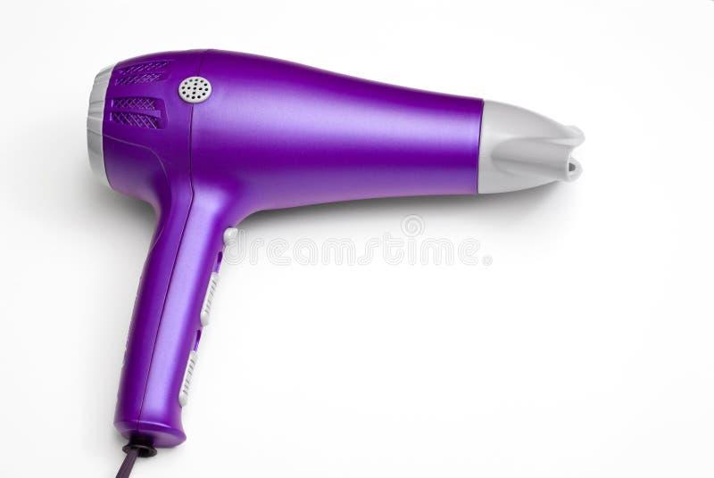 干毛发手持式紫色 免版税库存照片