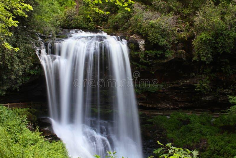 干瀑布北卡罗来纳 免版税库存照片