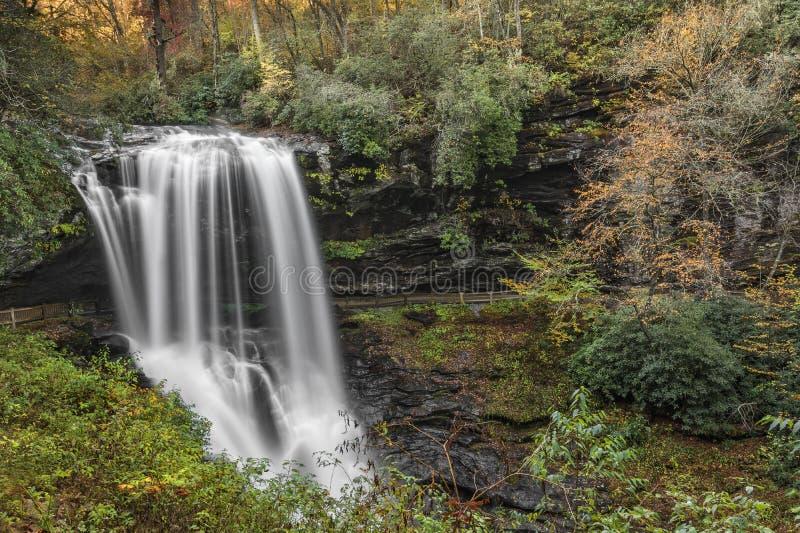 干瀑布瀑布 库存图片