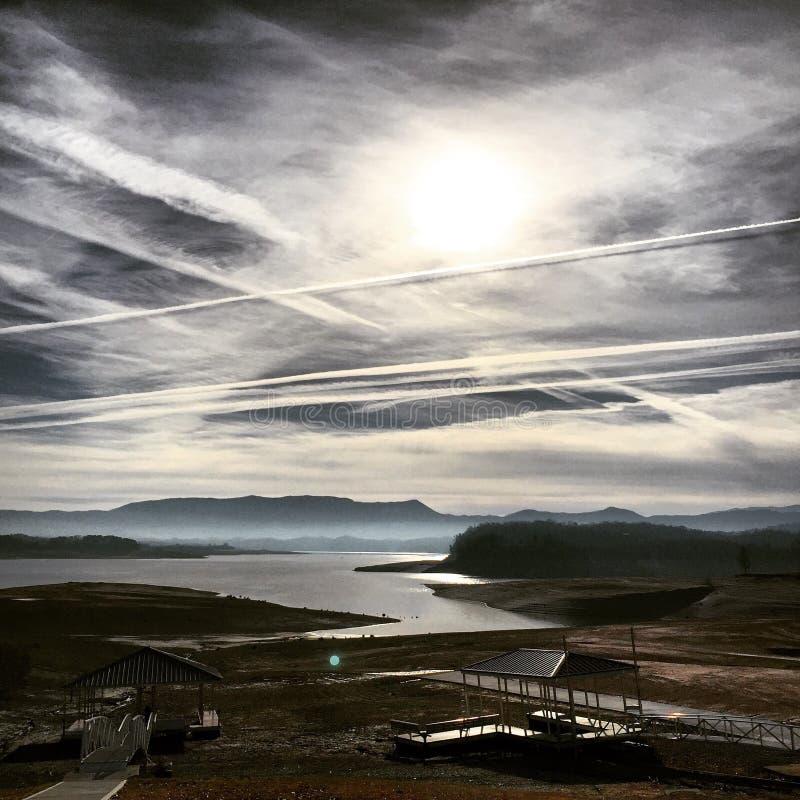 干燥天空 库存照片