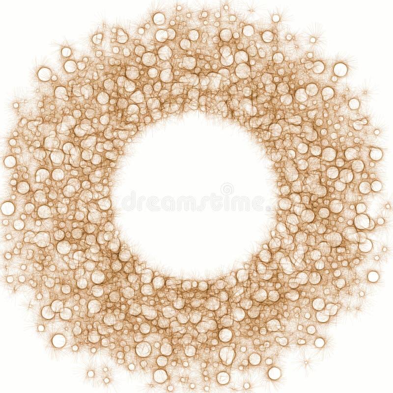干燥尘土起泡圈子框架 向量例证