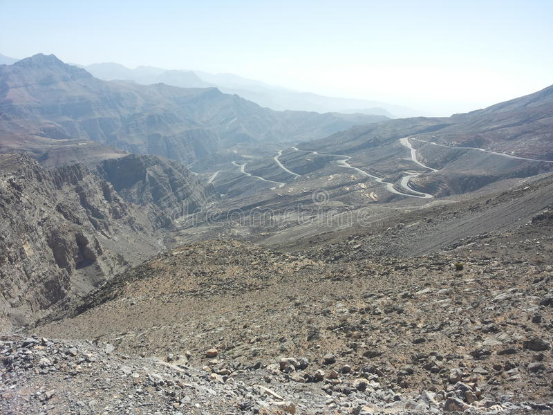 干燥山上面  图库摄影