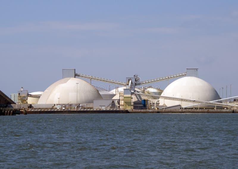 干燥批量项目货签港口设施 免版税库存照片