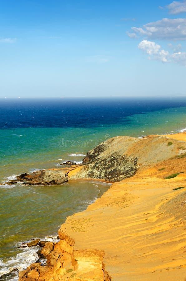 干燥沙漠海岸线 图库摄影