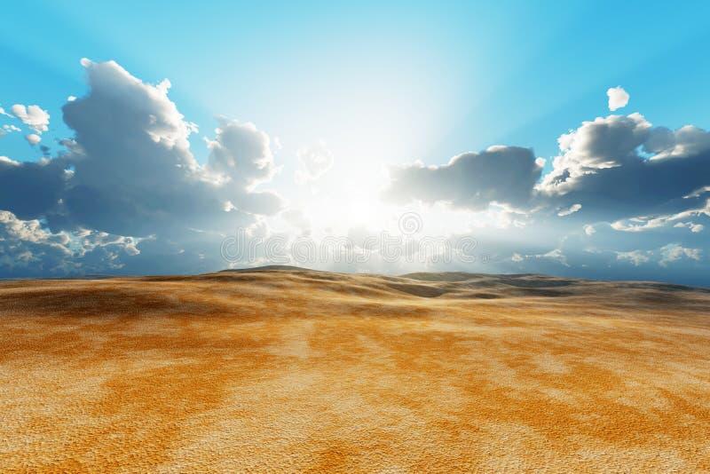 干燥沙漠 免版税库存照片