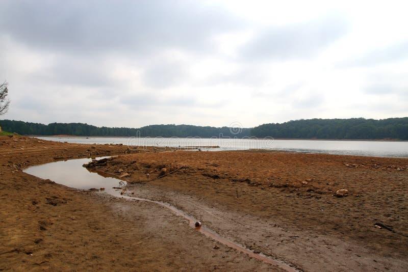 干燥河床   图库摄影
