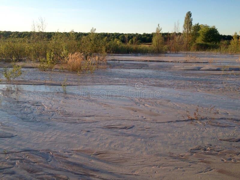 干燥河 库存图片