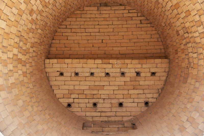 干燥炉标示里面用耐火砖 库存照片