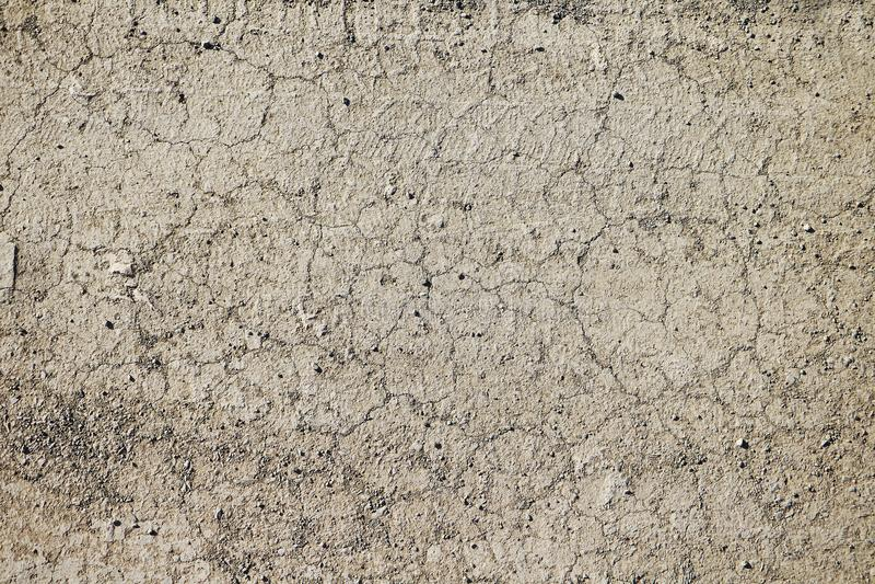 干燥破裂的地球纹理  沙漠背景 库存照片