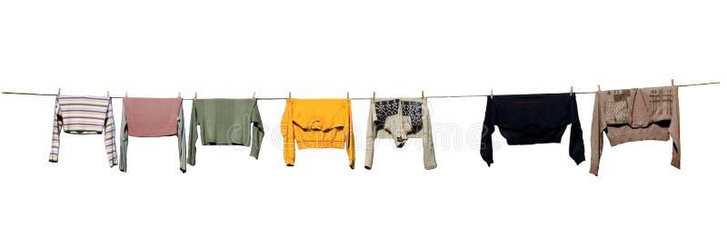 干燥衣裳,查出 免版税库存图片