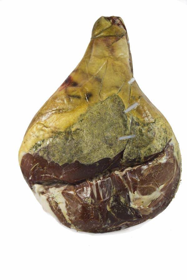 干燥被治疗的牛肉火腿熏火腿crudo 库存图片