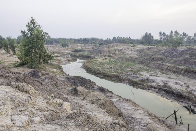 干燥运河 库存图片