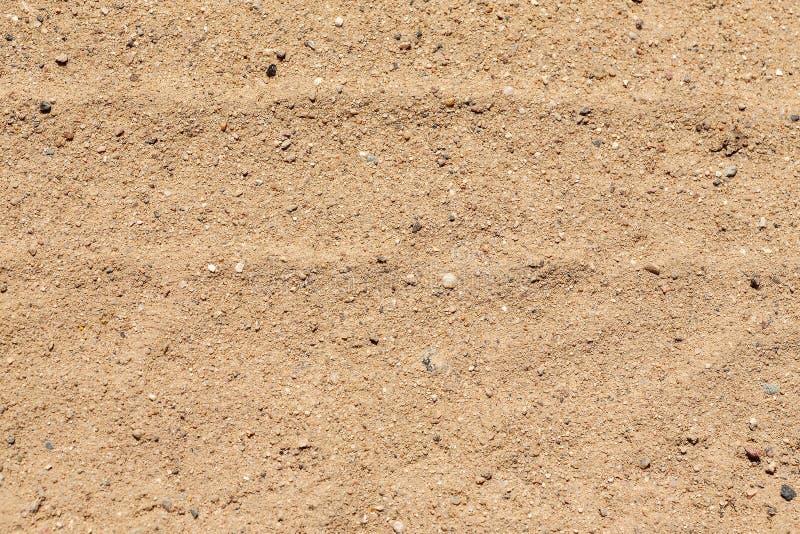 干燥黄沙与微粒,抽象纹理 库存照片