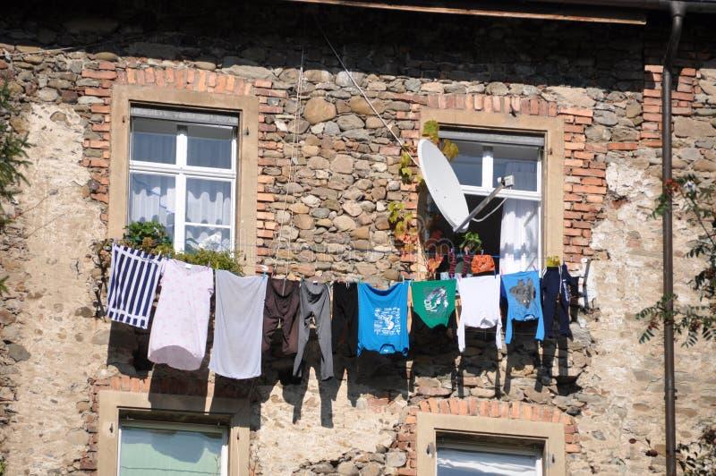 干燥洗衣店 图库摄影