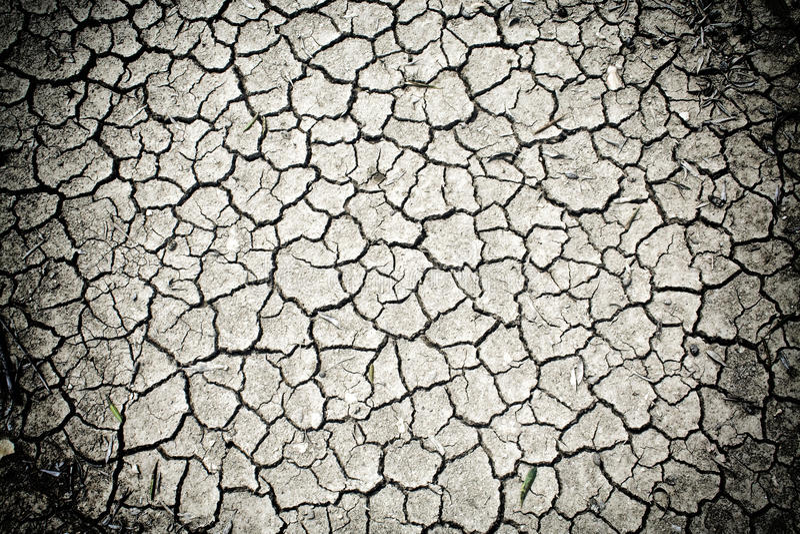 干燥破裂的土壤土 图库摄影