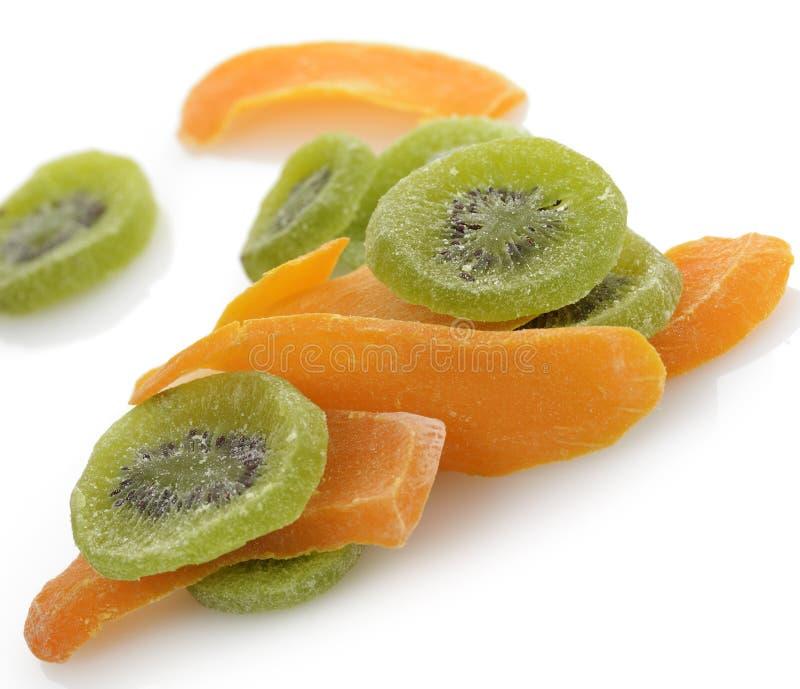 干猕猴桃和芒果果子 免版税库存照片