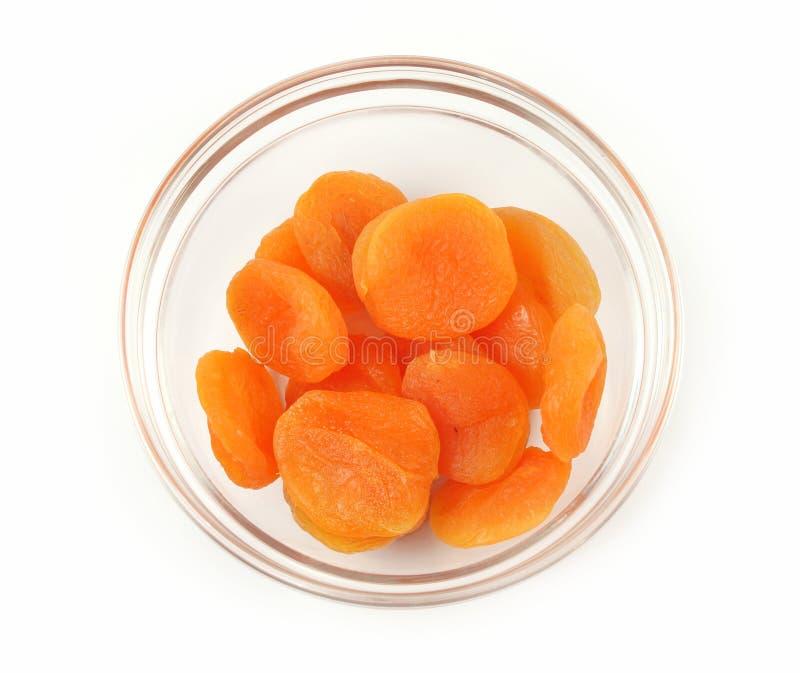 干的杏子结果实玻璃ine花瓶 免版税库存图片