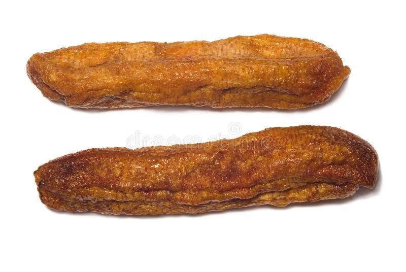 干的香蕉 免版税库存照片