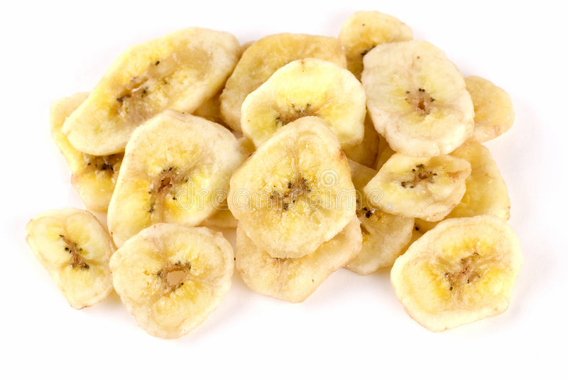 干的香蕉 库存照片