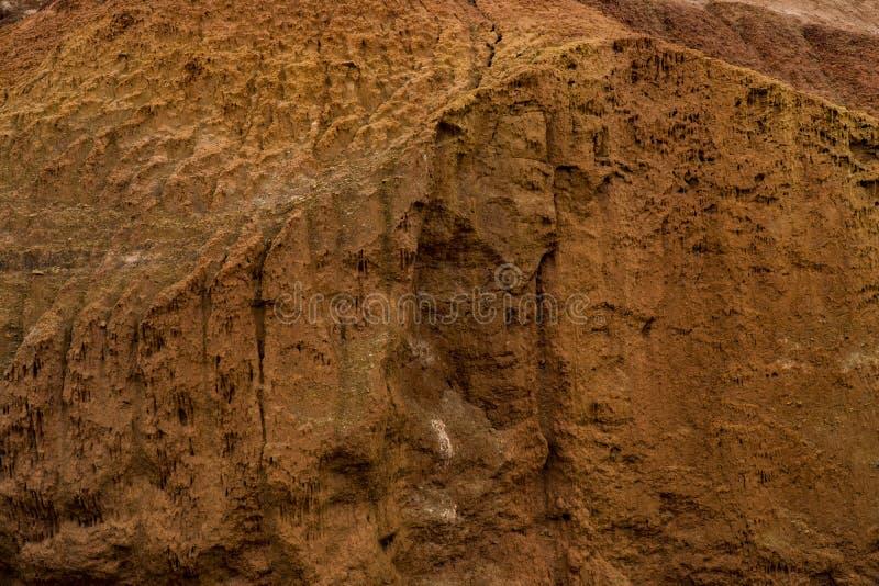 干破裂的黏土纹理  免版税图库摄影