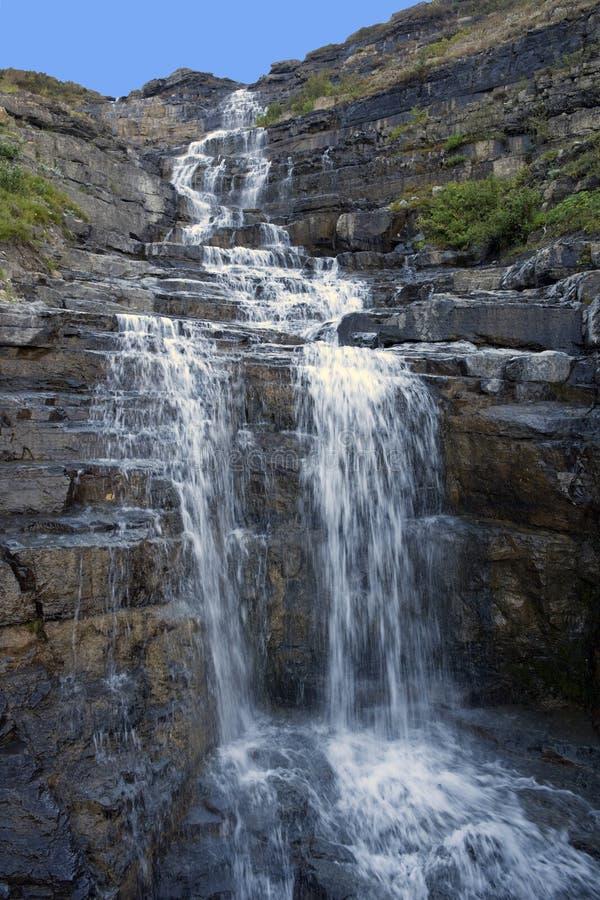 干草堆落冰川国家公园 免版税库存图片
