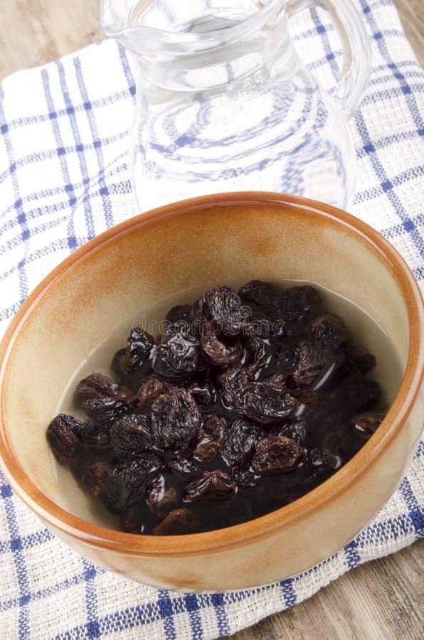 干葡萄干为烘烤准备 图库摄影