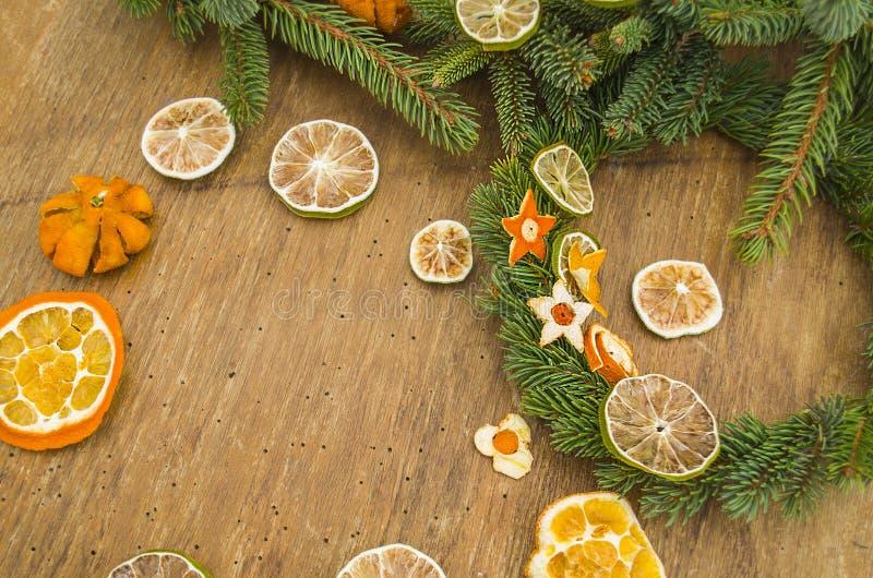 干蜜桔,桔子,石灰 免版税库存图片