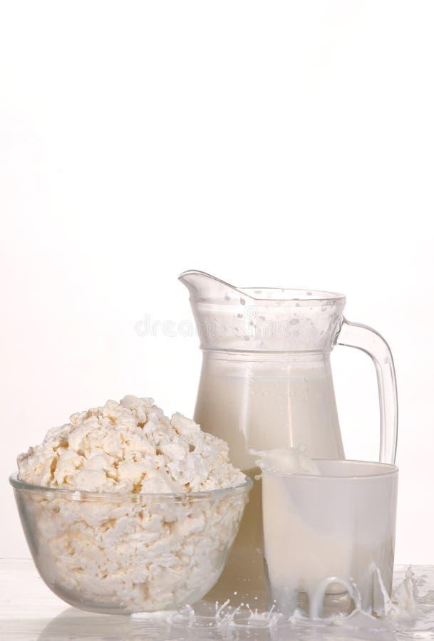 干酪仍然生活牛奶 免版税图库摄影