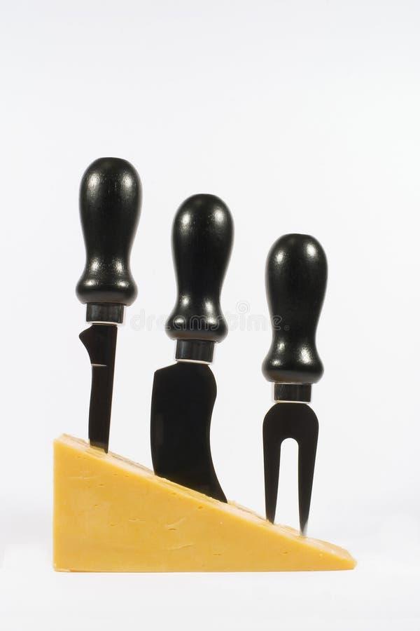 干酪刀子 库存照片