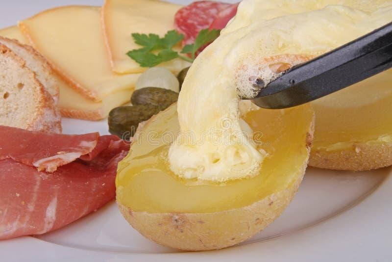 干酪可口raclette 库存照片