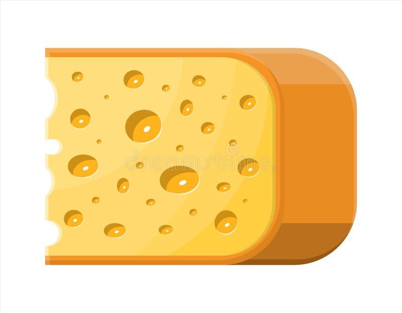 干酪查出的部分白色 皇族释放例证