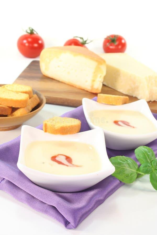 干酪汤 免版税库存图片