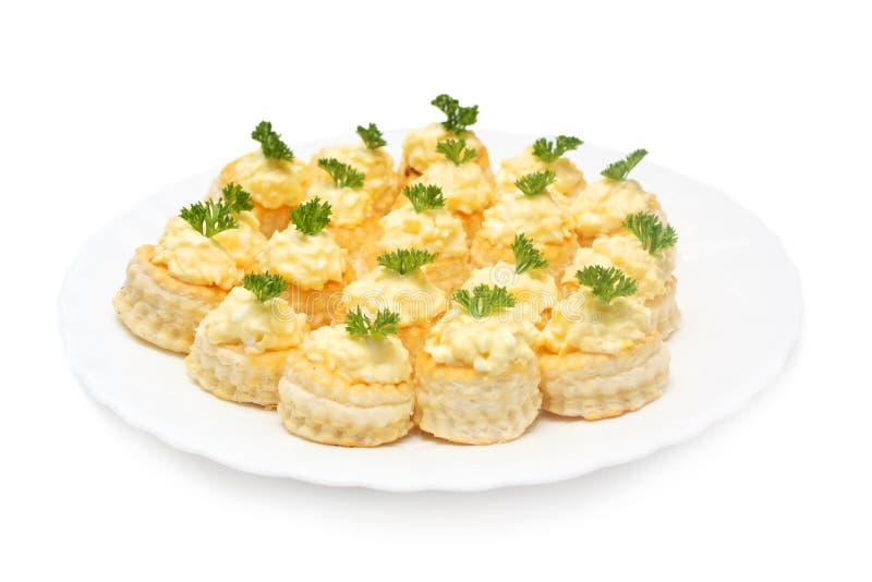 干酪沙拉小的快餐 免版税库存照片