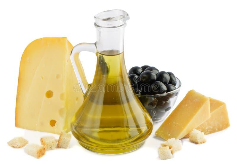 干酪油橄榄 免版税库存照片