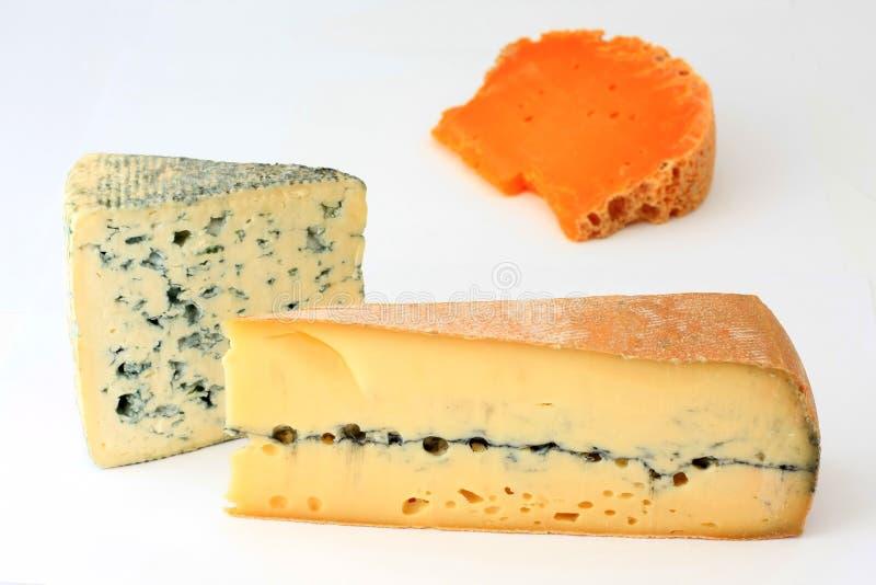 干酪法语三个种类 免版税库存照片