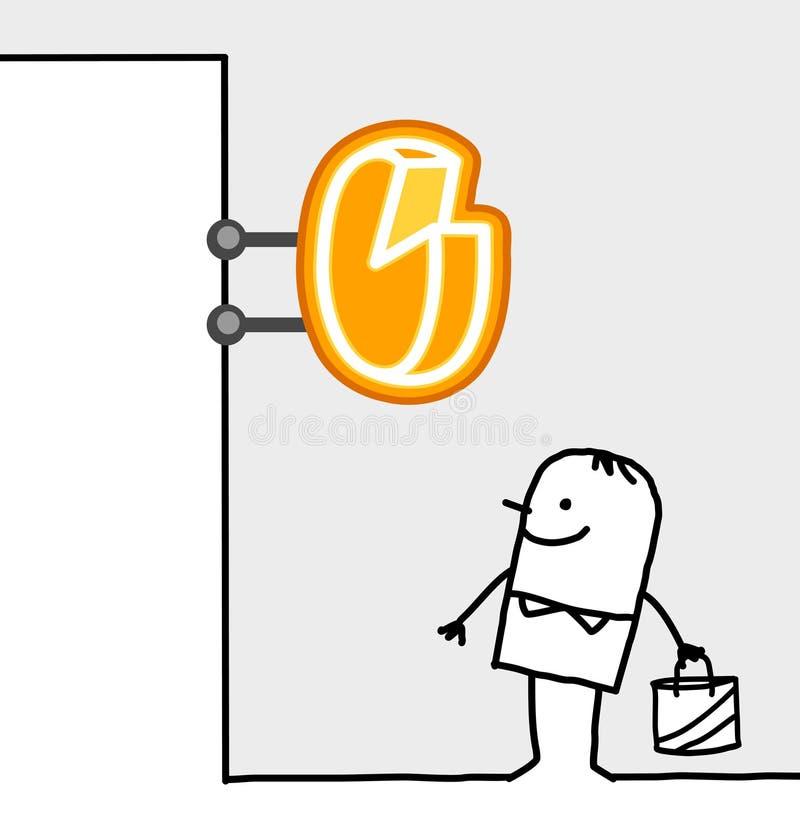 干酪消费者界面符号 向量例证