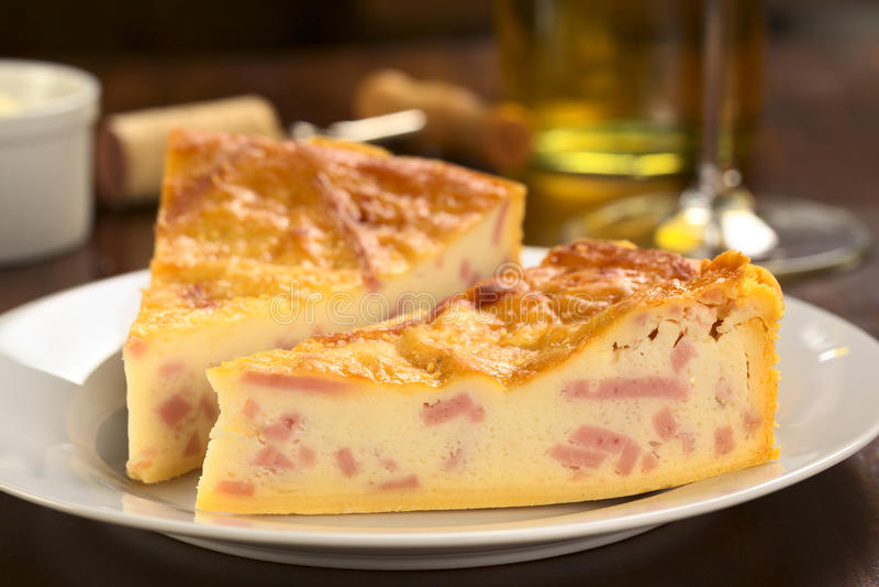 干酪火腿乳蛋饼 库存图片