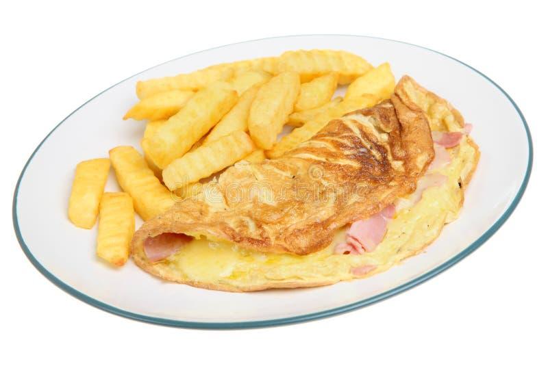 干酪火腿煎蛋卷 库存图片