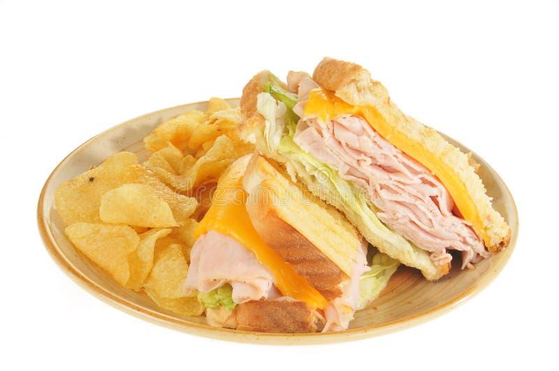 干酪火腿panini 库存照片