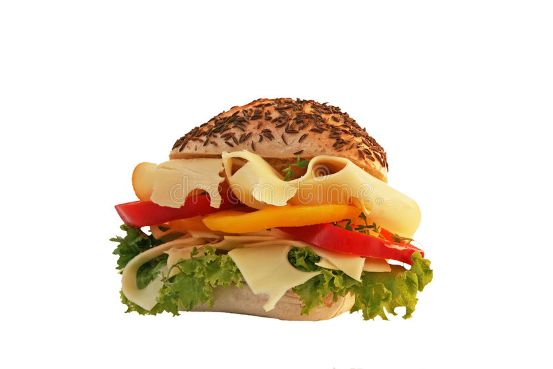 干酪熟食店三明治 免版税库存照片