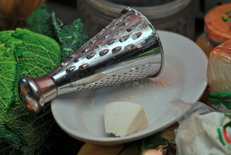 干酪磨丝器 库存照片