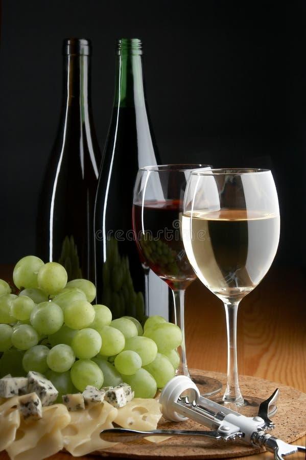 干酪葡萄酒 免版税库存图片