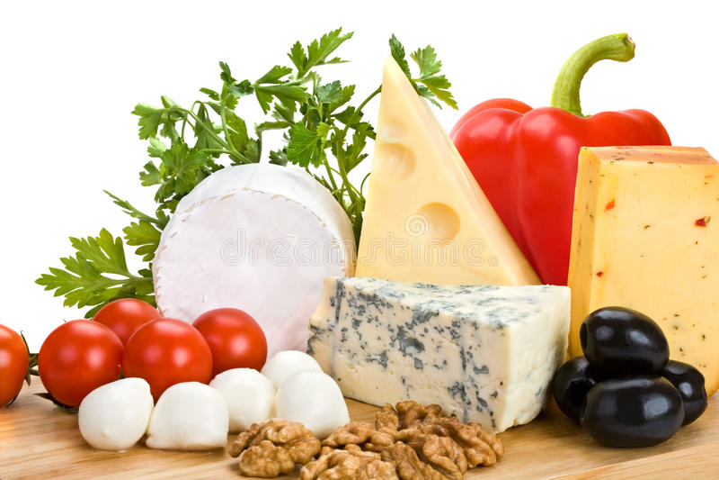 干酪蔬菜 库存照片